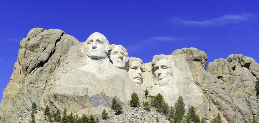mont rushmore statues visages