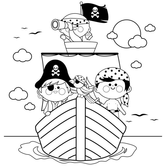 Coloriage De Pirate