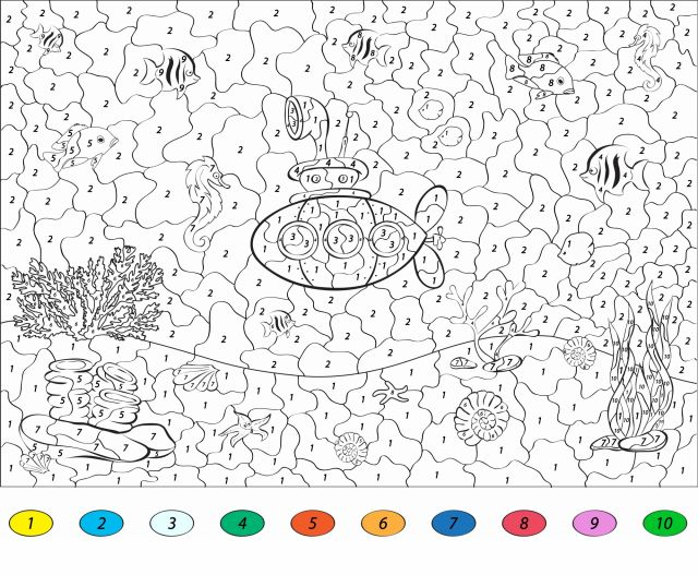 coloriage mer