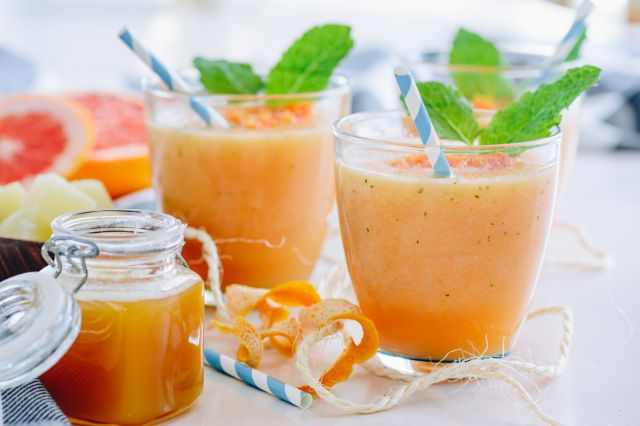 smoothie banane clementine pamplemousse