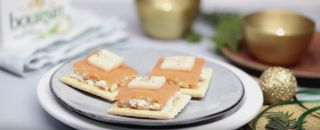 saumon fromage boursin crackers