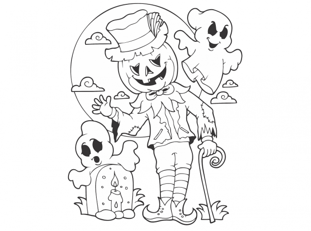 Halloween Un Coloriage A Faire Peur