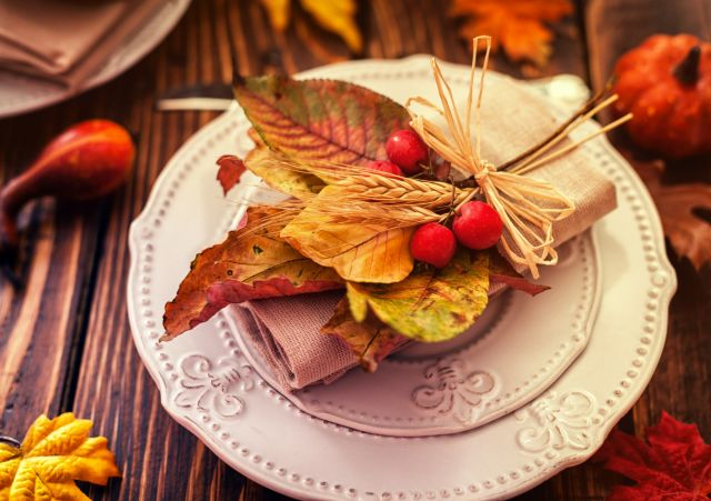 diy automne table decoration feuilles