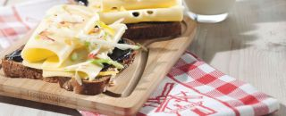 tartine fromage pomme