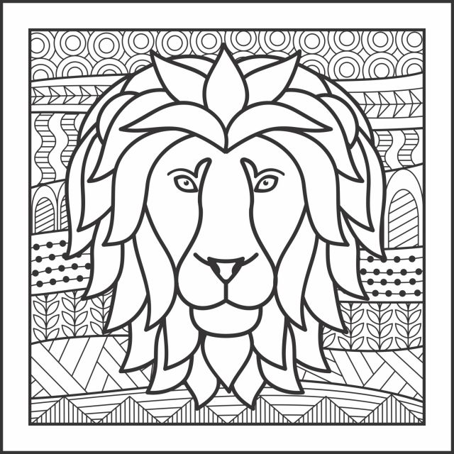 lion dessin coloriage