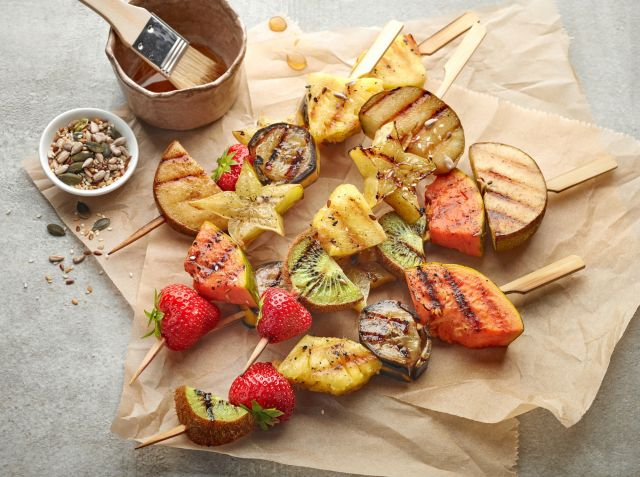 brochette fruits barbecue