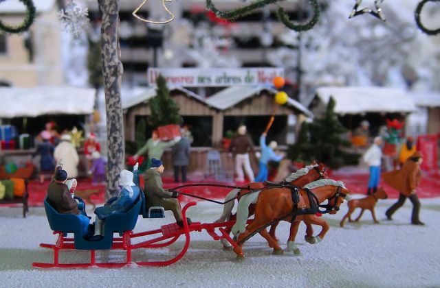 Miniatures Chevaux Traineau Noël Mini World Lyon