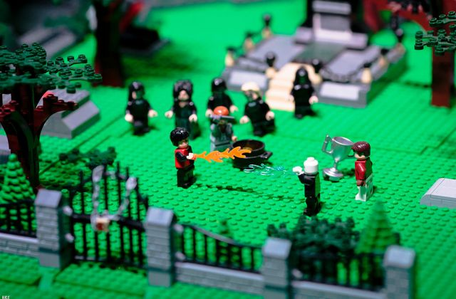Lego Figurines Diorama Harry Potter